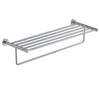 Inox Brushed Stainless Steel Wall Mounted Towel Shelf With Rail - 626mm [IX181]