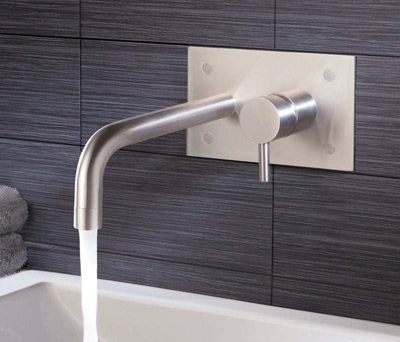 Wall Mounted Single Lever Basin Mixer with Back Plate | tapron.co.uk