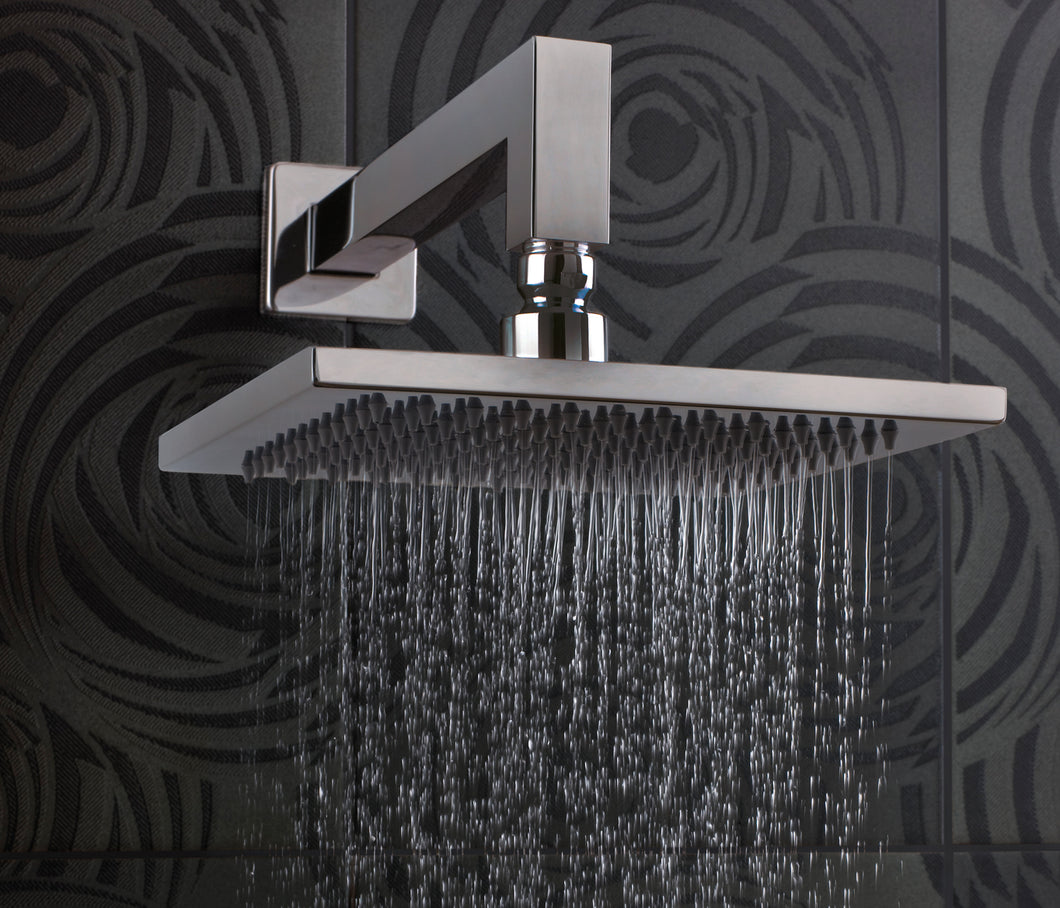 Wall Mounted Square Shower Head Stainless Steel | tapron.co.uk
