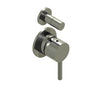 Inox Brushed Stainless Steel Concealed Manual Diverted Valve 2 Outlets [IX5079]