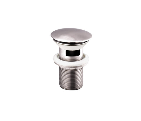 Inox Brushed Stainless Steel Slotted Basin Clicker Waste [IX709CCSL]