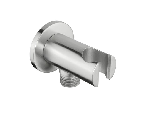 inox-brushed-stainless-steel-round-shower-outlet-elbow-with-handset-holder-ixelbow-ws