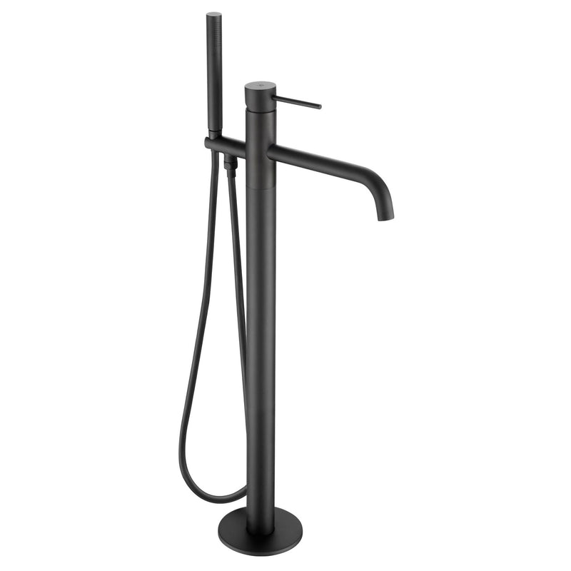 Matt Black Floorstanding Bath Shower Mixer with Kit [28534MB]