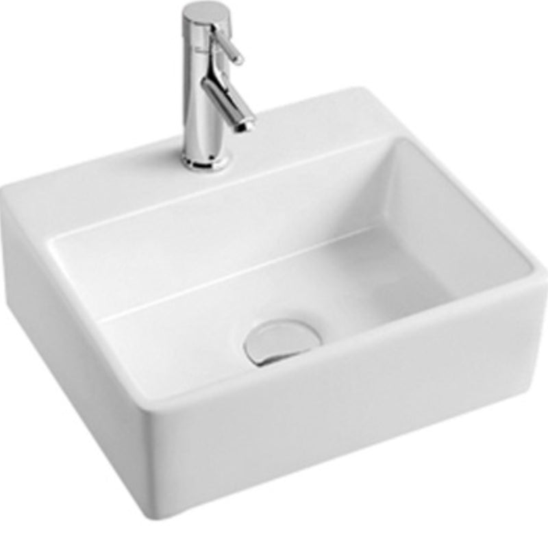 Wall Mounted Square Ceramic Basin [TRSQB702]