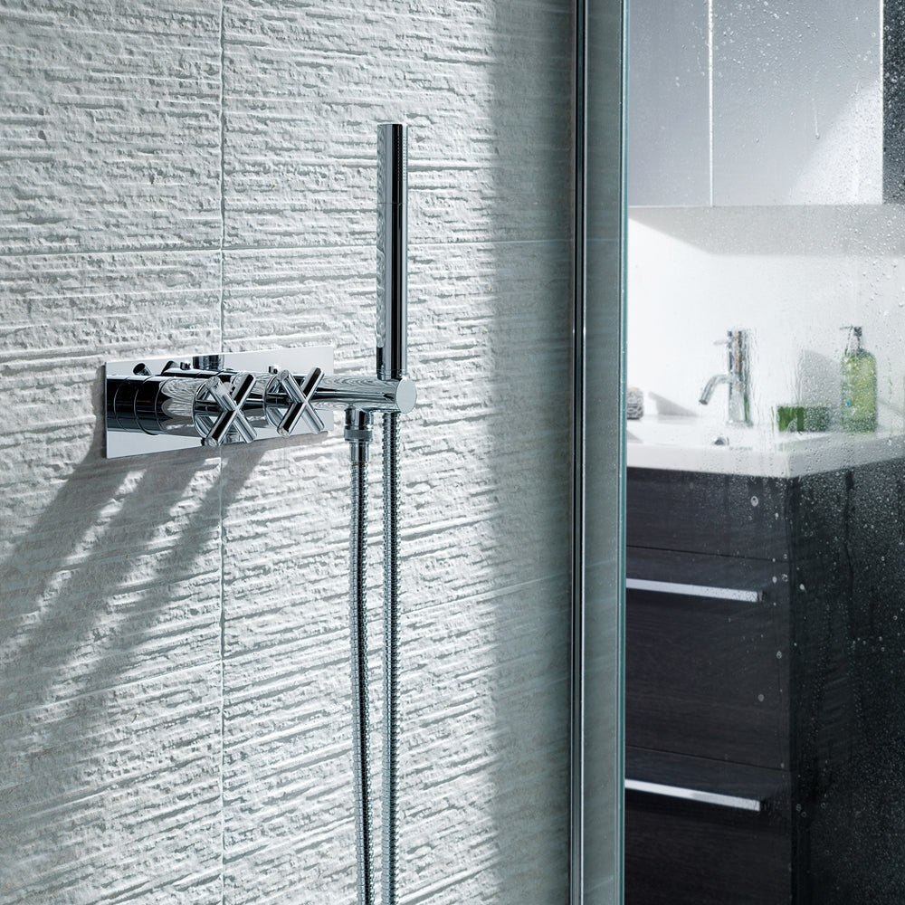 Solex Thermostatic Concealed 1 Outlet Shower Valve with attached Handset
