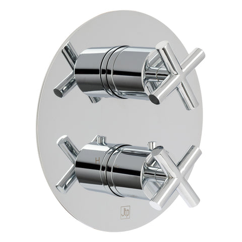 Solex Thermostatic Concealed 2 Outlet Shower Valve [16681CL]