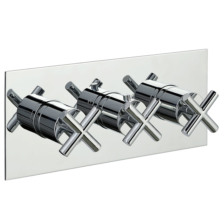 Solex Thermostatic Concealed 3 Outlet Shower Valve - Horizontal