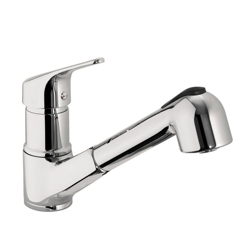 Topmix  Brass Pull Out Kitchen Tap with Swivel Spout in Chrome Finish HP1 Height 178mm x Projection 252mm [TM181]