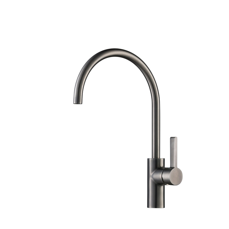 VOS Single Lever Mono Gunmetal Kitchen Tap with Swivel Spout Height 400mm x Projection 240mm  [27181BBL]
