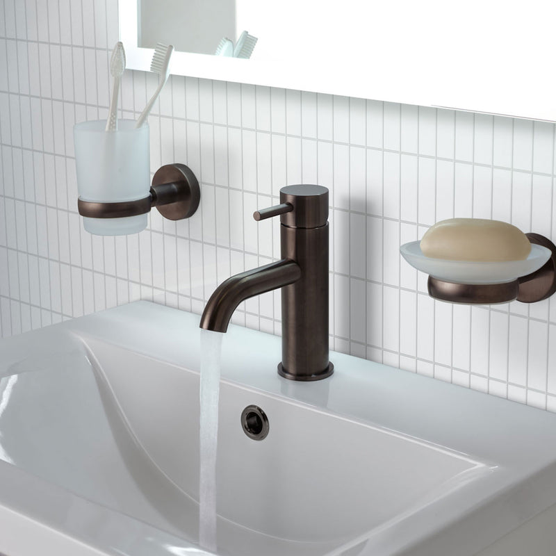 VOS Single Lever Basin Mixer Brushed Black [27008ABBL]