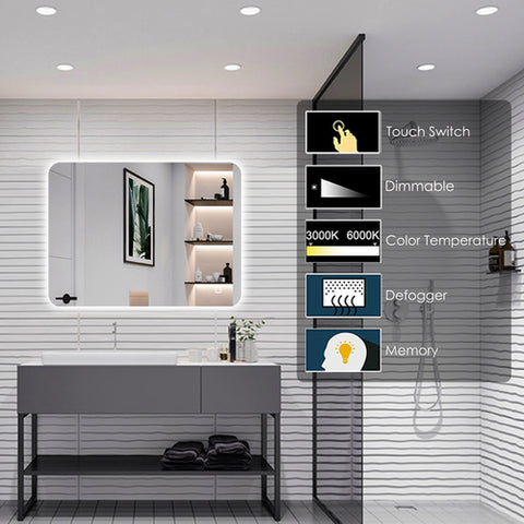Square Dimmable  LED Mirror [TRIN800]
