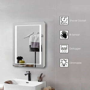 LED Mirror Cabinet Single Door