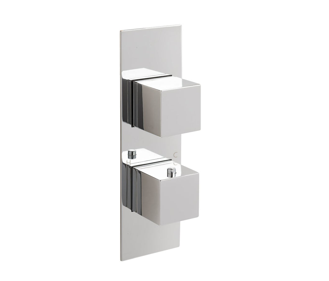 Gaia slimline thermostatic concealed 3 outlet shower valve, MP 0.5 - Tapron