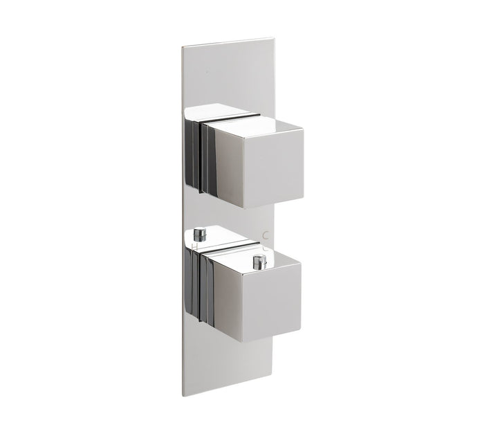 Gaia slimline thermostatic concealed 2 outlet shower valve, MP 0.5 - Tapron