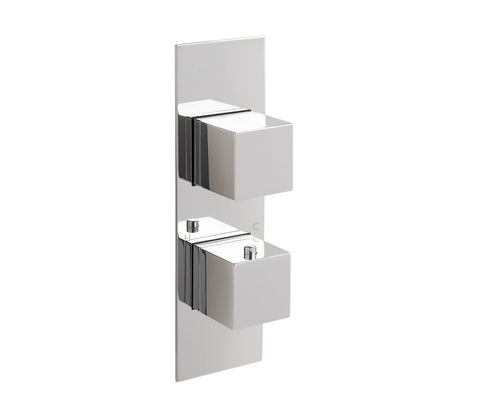 Gaia Slimline Thermostatic Concealed 2 Outlet Shower Valve, MP 0.5 [88671]
