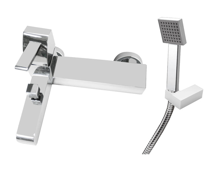 Carlo Wall Mounted (with flanges) Single Lever Bath Shower Mixer with Kit, HP 1 - Tapron