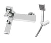 Carlo Wall Mounted (with flanges) Single Lever Bath Shower Mixer with Kit, HP 1 [42119W/M]