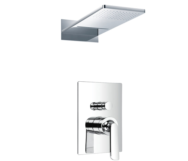 Cascata single lever concealed diverter with 2 outlets overhead shower, HP 2 - Tapron