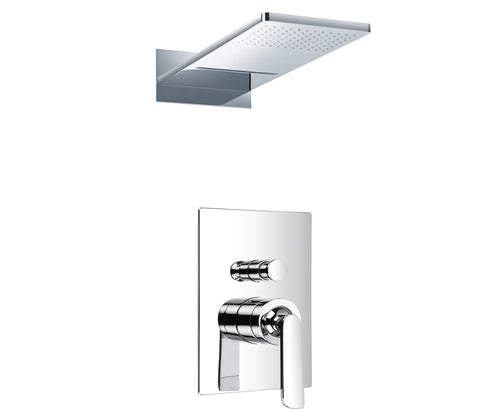 Toxcana single lever concealed diverter with 2 outlets overhead shower, HP 2 [77079]