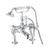 Chester Crosshead Deck Mounted Bath Mixer With Shower Handset- Nickel [76275NK]