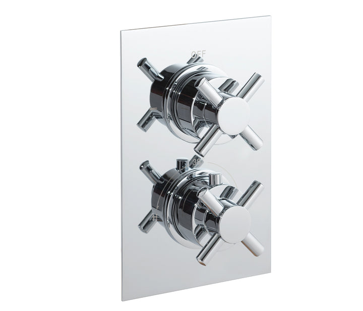 Cross thermostatic concealed 1 outlet shower valve, LP 0.2 - Tapron