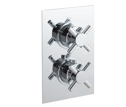 Cross thermostatic concealed 1 outlet shower valve, LP 0.2 [JTTHERMO9P]