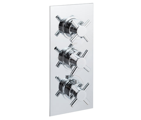 Cross thermostatic concealed 3 outlet shower valve, LP 0.2 [JTTHERMO12P]