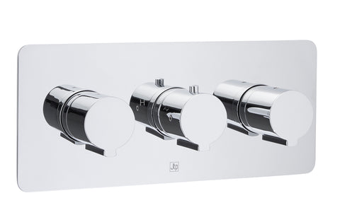 Curve Thermostatic Concealed 3 Outlet Shower Valve  MP 0.5 [72692]