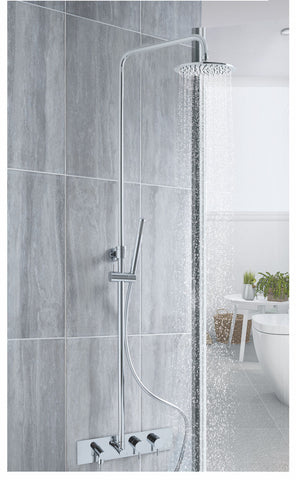 Florence Thermostatic Concealed 2 Outlet Shower Valve, Rigid Riser. MP 0.5
