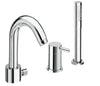 Florentine 3 hole single lever bath and shower mixer with extractable shower hose, HP 1 [52045]