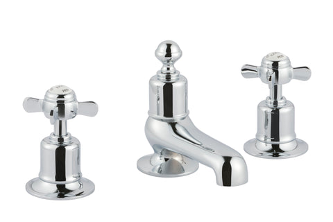 Chester Pinch 3 - Hole Long Nose Basin Mixer - Chrome [98193 Chrome]