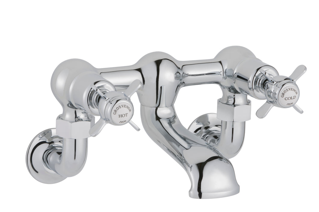 Chester Pinch Wall Mounted Bath Filler - Chrome
