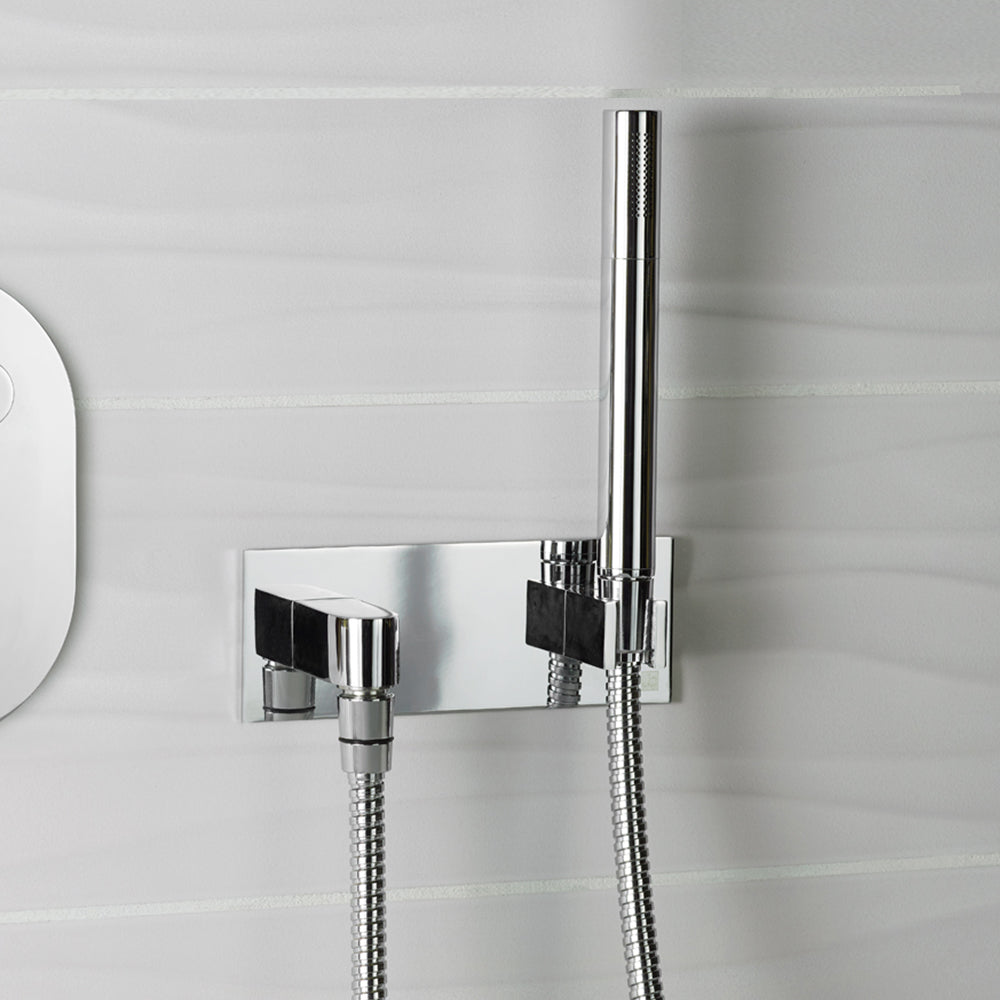 Hugo 3 Outlet Touch Thermostat With Handheld Shower Overhead Shower Bath Exofil Com057