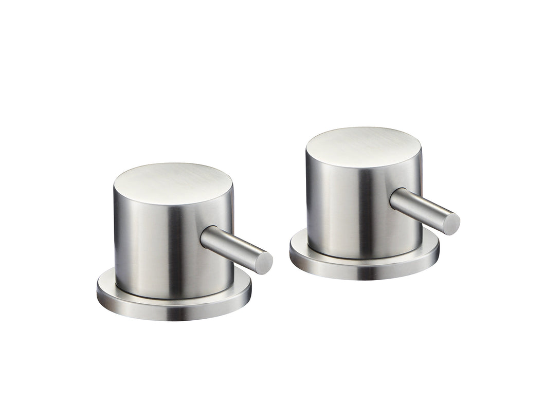 Inox Brushed Stainless Steel Deck Panel Valves [IX809]