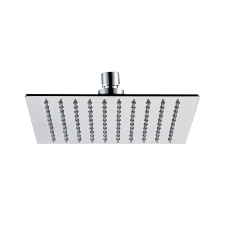 Inox Brushed Stainless Steel Square Fixed  Shower Head - 200mm [IX4015]