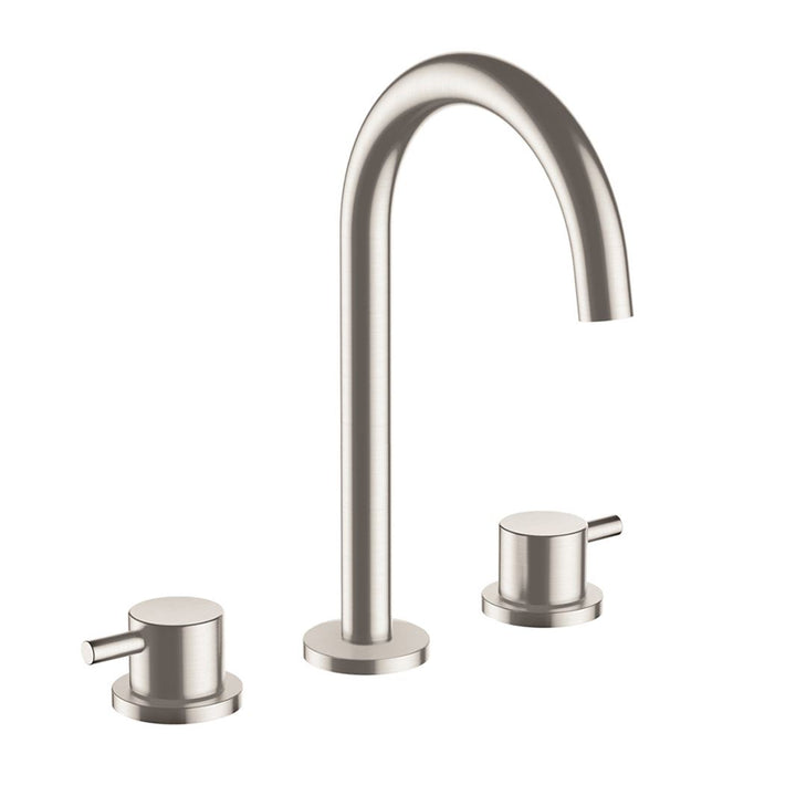 Inox Brushed Stainless Steel 3 Hole Deck Mounted Basin Mixer [IX193]