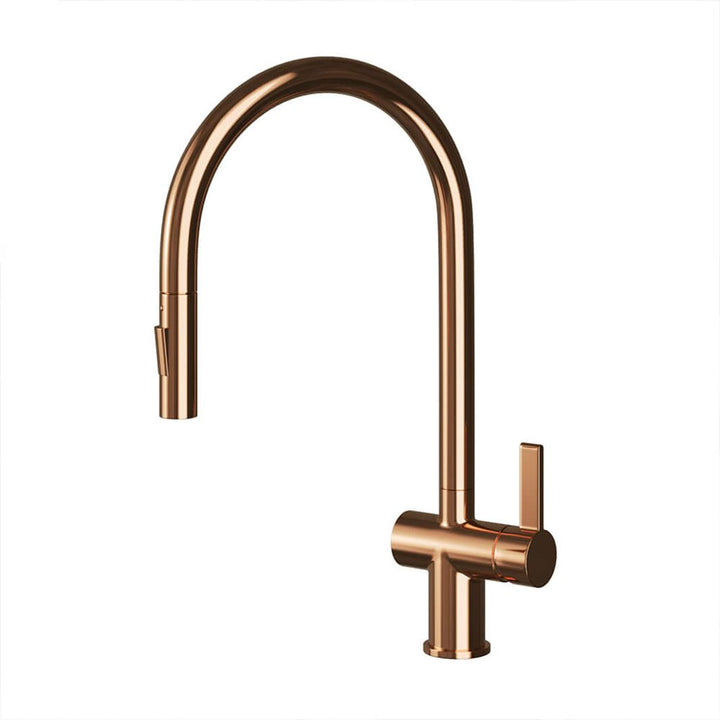 Rose Gold Single Lever Sink Mixer with Pull Out [RG127]