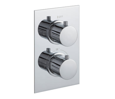 Round thermostatic concealed 1 outlet shower valve, LP 0.2 [JTTHERMO1P]