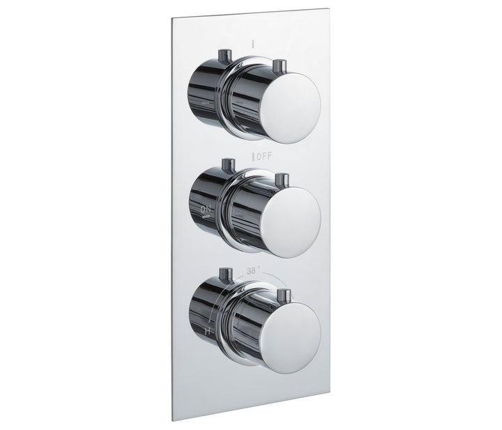 Round Thermostatic Concealed 2 Outlet Shower Valve [JTTHERMO3P]