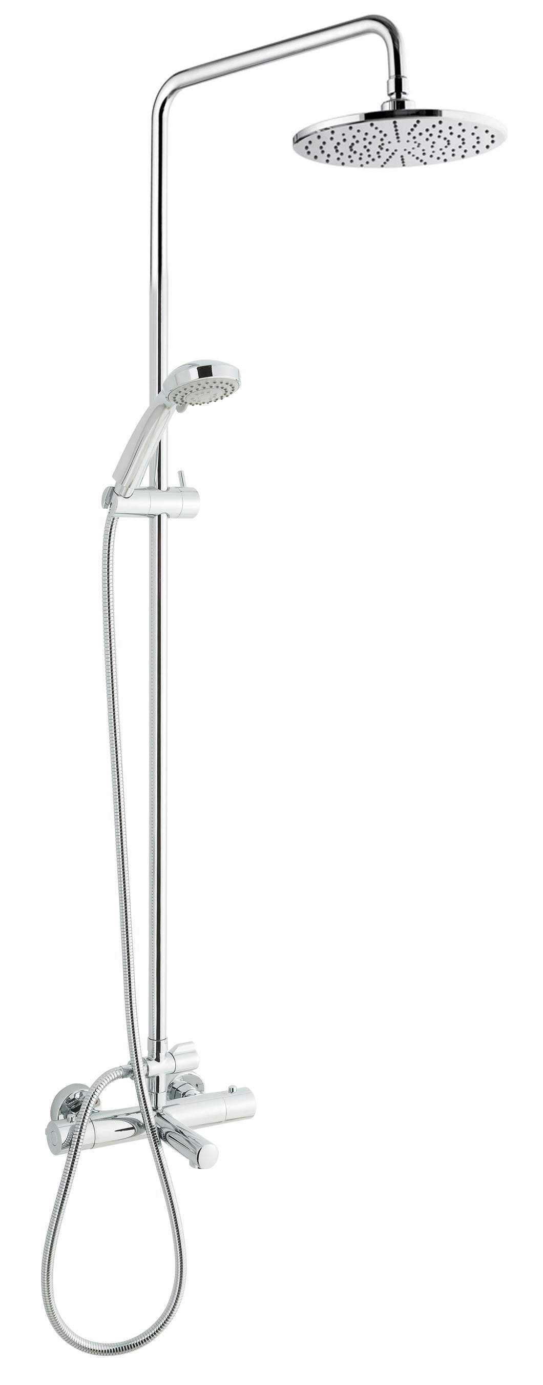Thermostatic Shower Pole with Overhead Shower Hand Shower and Bath Spout [1275]