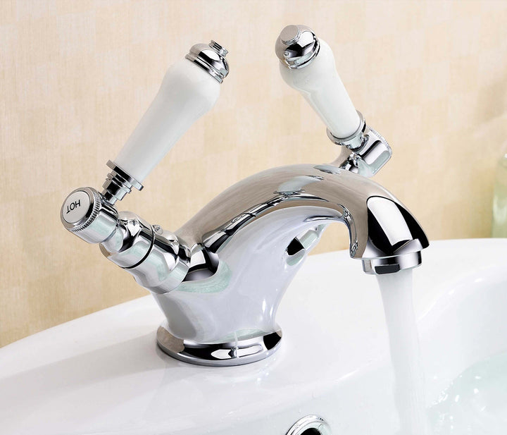 Sapphire monoblock basin mixer without pop up waste, LP 0.2 [JTSN151P]