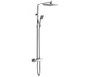 Square 2 Outlet Thermostatic Valve with Overhead and Hand shower, LP 0.2 [JTTSM716P]
