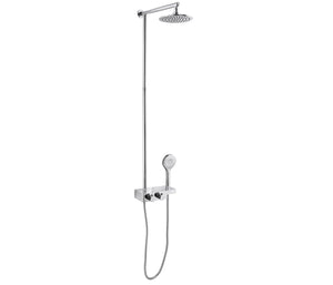 Thermostatic Rail with Overhead and Multi-function Hand Shower [ED189]