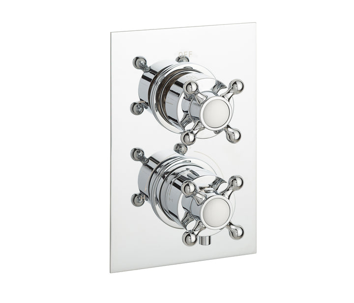 Victorian thermostatic concealed 2 outlet shower valve, LP 0.2