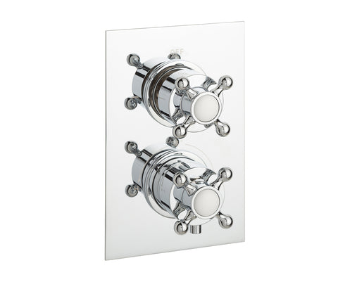 Victorian thermostatic concealed 2 outlet shower valve, LP 0.2 [JTTHERMO14P]