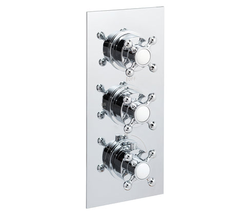 Victorian thermostatic concealed 3 outlet shower valve, LP 0.2 [JTTHERMO16P]
