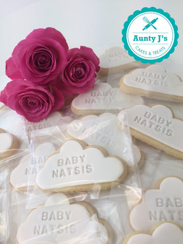Stamped Baby Shower Cookies