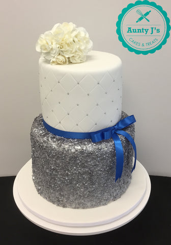 Sequin Wedding Cake