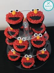 Red Monster Cupcakes