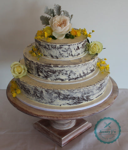 Semi Naked Gluten Free Wedding Cake